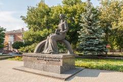 KOVEL, DE OEKRAÏNE: Monument aan Lesya Ukrainka stock afbeeldingen