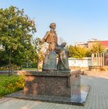 KOVEL, UCRAINA: Monumento a Lesya Ukrainka fotografia stock