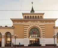 KOVEL, UKRAINE: Railway station of Kovel. KOVEL, UKRAINE - 20 AUGUST, 2018: The building of Kovel railway station Royalty Free Stock Photos