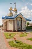 KOVEL, UKRAINE: Church of St. Sergius of Radonezh near the railw. KOVEL, UKRAINE - 5 JULY, 2018: Church of St. Sergius of Radonezh near the railway station in Royalty Free Stock Photos