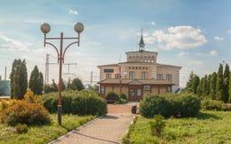 KOVEL, UKRAINE: Railway station of Kovel. KOVEL, UKRAINE - 5 JULY, 2018: The building of Kovel railway station Stock Photo