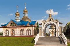 KOVEL, UKRAINE: Church of St. Sergius of Radonezh near the railw. KOVEL, UKRAINE - 5 JULY, 2018: Church of St. Sergius of Radonezh near the railway station in Stock Photography