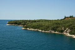 Koversada resort. Famous Naturist park Koversada. Adriatic sea. Croatia stock photo
