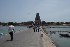 Kovil hindú en Nagadeepa, Jaffna, Sri Lanka Fotografía de archivo libre de regalías