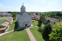 Kovilj ortodox kloster Serbien Arkivfoton