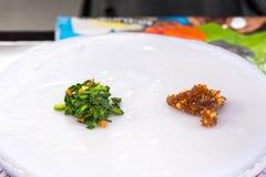 Kow Griep Pag Mor, Thaise Gestoomde rijst-Huid Bollen Royalty-vrije Stock Afbeeldingen