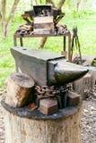 Kowadło kraju plenerowy blacksmith Zdjęcie Royalty Free