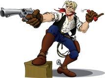 kowboj bohater ilustracja wektor