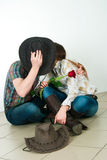 Kowboj historia miłosna Obraz Royalty Free