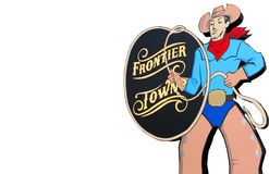 Kowboj - Nowy miasteczko znak zdjęcia stock