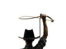 Kowboj rzuca lasso obraz royalty free