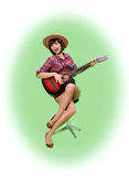 Kowboj szpilki stylowa dziewczyna Obrazy Royalty Free