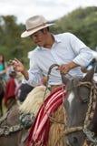 Kowboj w Andes Ekwador na koniu Obraz Royalty Free