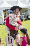 Kowboj z dziećmi Obraz Royalty Free