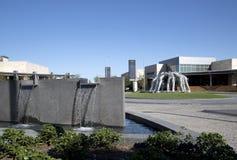 Kowboja skupiska rzeźba w Ford centrum obrazy royalty free