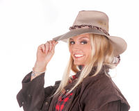 kowbojka sexy blondynkę obrazy stock