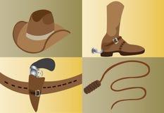 Kowbojscy narzędzia ilustracja wektor