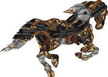 Kowbojscy sylwetka konie w wzorze podkowy i krócicy z pociskami royalty ilustracja