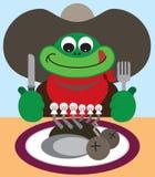 Kowbojska żaba royalty ilustracja