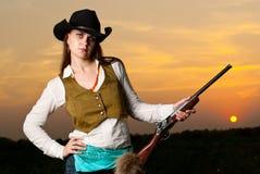 kowbojska kobieta Obraz Royalty Free