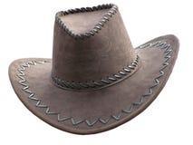 kowbojski kapelusz na s white Zdjęcia Royalty Free