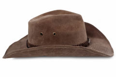 Kowbojski kapelusz odizolowywający Zdjęcie Stock