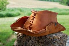 kowbojski kapelusz skóra Zdjęcie Stock