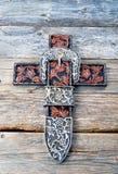 Kowbojski modlitwa krzy? fotografia stock