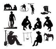 Kowbojski odpoczywa set Obraz Stock