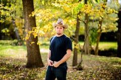 Kowbojski ranczer Patrzeje Ufny Fotografia Royalty Free