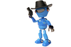 Kowbojski robot Zdjęcie Stock