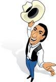 kowbojski rysunkowy górny widok Zdjęcia Royalty Free