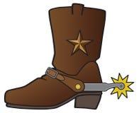 Kowbojski but z ostroga royalty ilustracja
