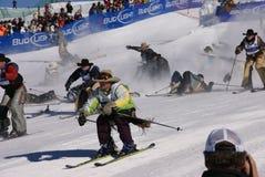 kowbojskich kowbojów masowy narciarstwa paniki początek Zdjęcie Stock
