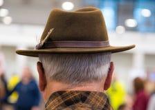 Kowbojskie mody Portret jest ubranym kowbojskiego kapelusz od za stary mężczyzna obraz royalty free