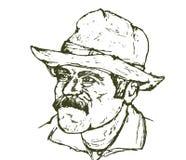 kowboju niewygładzony ilustracja wektor