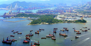 Kowloon και νέα εδάφη, Χογκ Κογκ Στοκ φωτογραφία με δικαίωμα ελεύθερης χρήσης