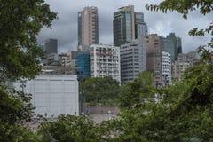 Kowloon увиден от парка Kowloon в Гонконге стоковое фото rf