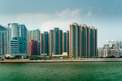 Kowloon Apartment Buildings Royalty Free Stock Images