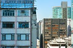 Kowloon architecture, Hong Kong Royalty Free Stock Photos