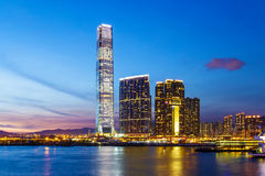Kowloon area at night Stock Images