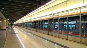 Kowloon-Bahnstation, Hong Kong Stockbilder