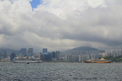 Kowloon bay and kai tak cruise terminal Royalty Free Stock Images