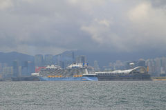 Kowloon bay and kai tak cruise terminal Stock Photos