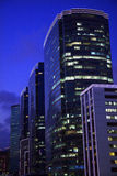 Kowloon Buildings Hong Kong at Night Stock Image