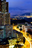 Kowloon city at night Royalty Free Stock Photo