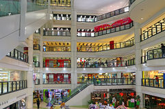 Kowloon city plaza shopping mall. Interior view of kowloon city plaza shopping mall in hong kong Royalty Free Stock Photo