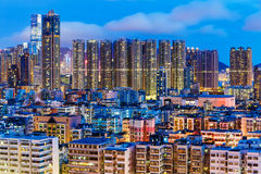 Kowloon district at night Stock Photo