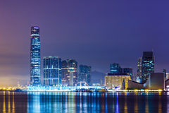 Kowloon downtown district in Hong Kong Royalty Free Stock Photography