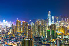 Kowloon downtown district in Hong Kong Stock Photography
